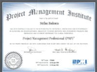 Project Management Institute PMP certification stefan badescu